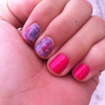 Pink colors  nail art by stephanieC