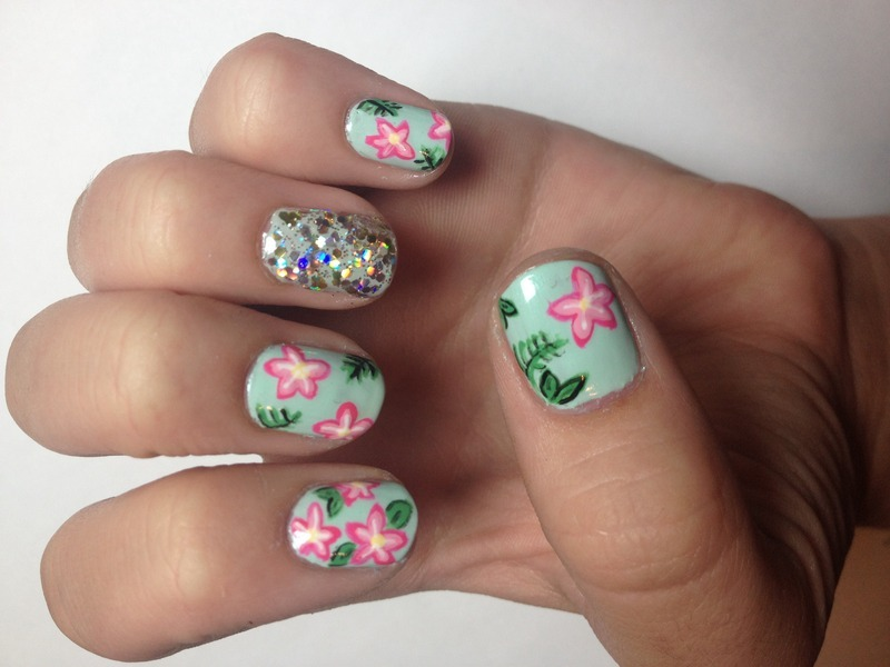 Petals and Pizazz nail art by Halle Butler