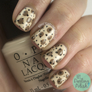 Neutral brown polka dot pattern nail art 4 thumb370f