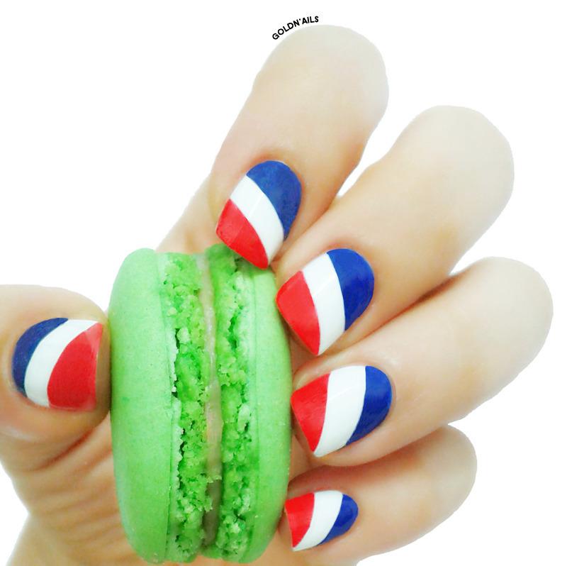 France Flag Nails nail art by Goldi - Nailpolis: Museum of Nail Art