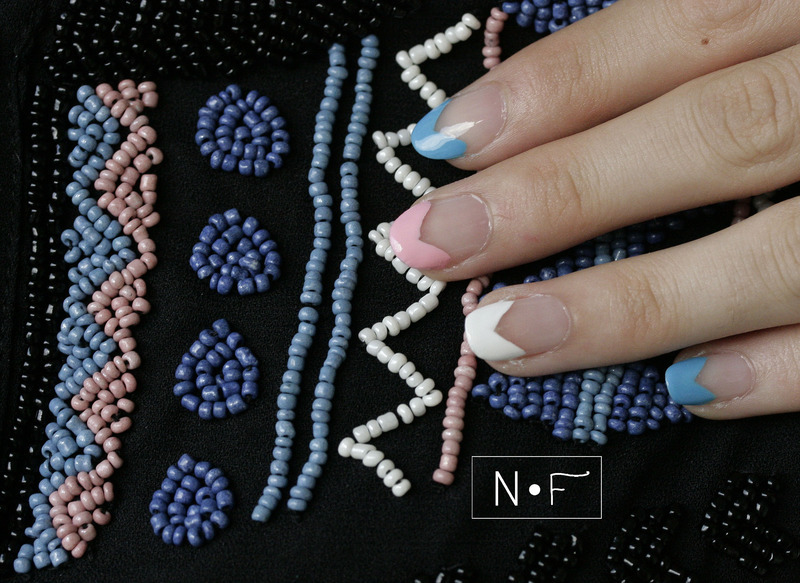 Inspiration from a jumpsuit nail art by NerdyFleurty