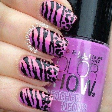 Stripes and Spots  nail art by PolishedJess