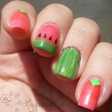 Juicy Yumminess nail art by Jennifer Collins