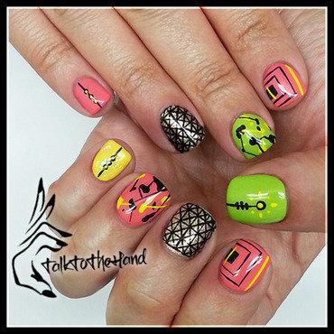 Geo Summer nail art by TalktothehandNails
