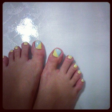 Pastel Toes. nail art by JingTing Jaslynn