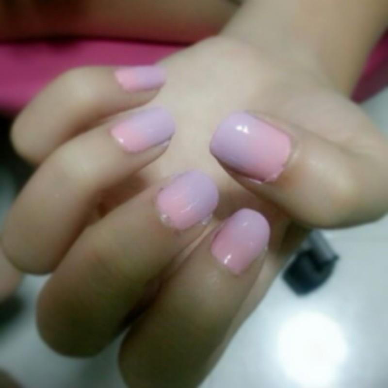 Sweet Cotton Candy nail art by JingTing Jaslynn