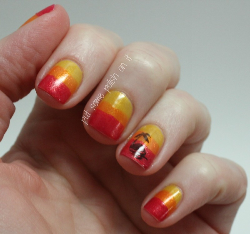 tropicals  nail art by Crystal