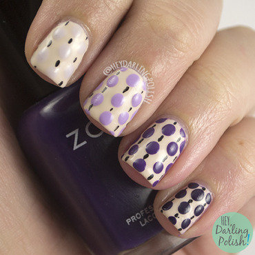 Purple ombre polka dots nail art 4 thumb370f