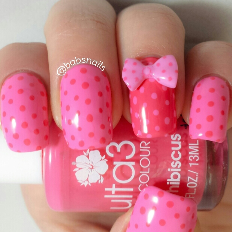 Dots & A Bow nail art by Brooke (babs)
