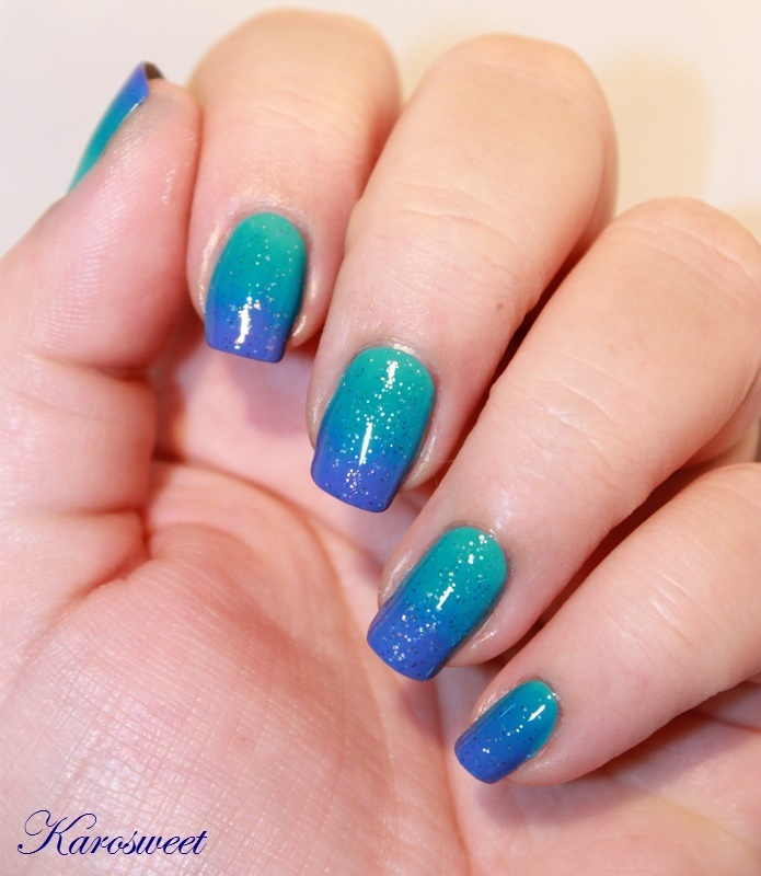 Ocean nails nail art by Karosweet