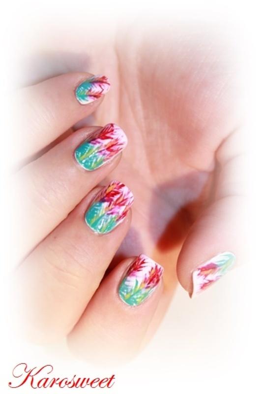 Tropical nails nail art by Karosweet