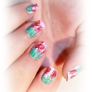 Tropical nails nail art by Karosweet