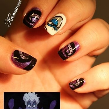 Ursula nails nail art by Karosweet