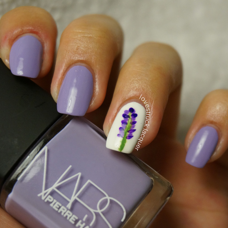 Lavender mani nail art by Stephanie L