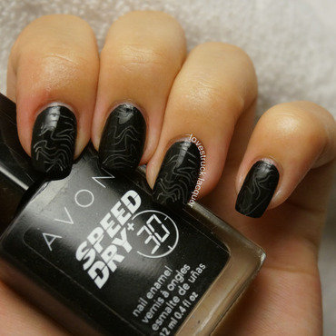 """Dark"" for OMD2 Challenge nail art by Stephanie L"