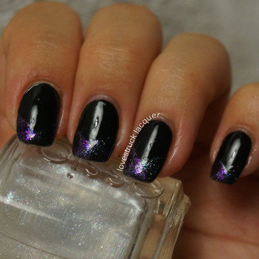 """Shimmer"" for OMD2 challenge nail art by Stephanie L"