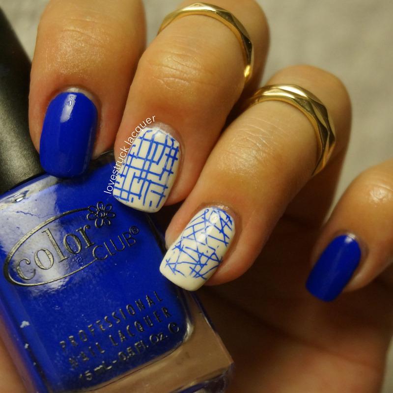Favorite polish - Color Club Bright Night nail art by Stephanie L