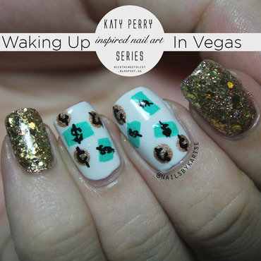 Waking up in vegas katy perry nail art thumb370f