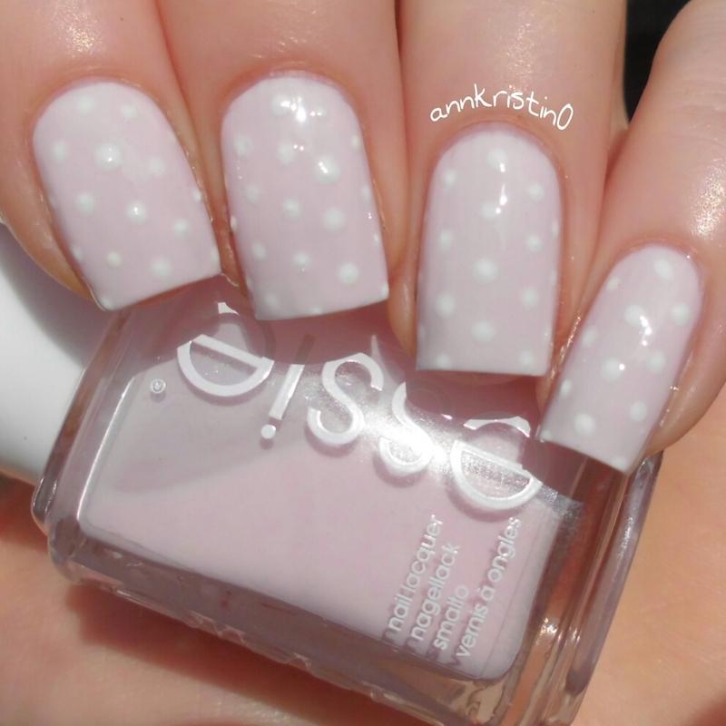 Pink Polka Dots nail art by Ann-Kristin