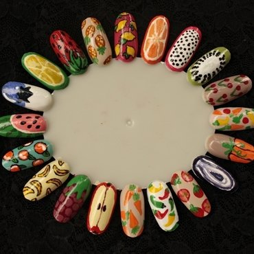 vegetables & fruit nail art by Marianna Kovács