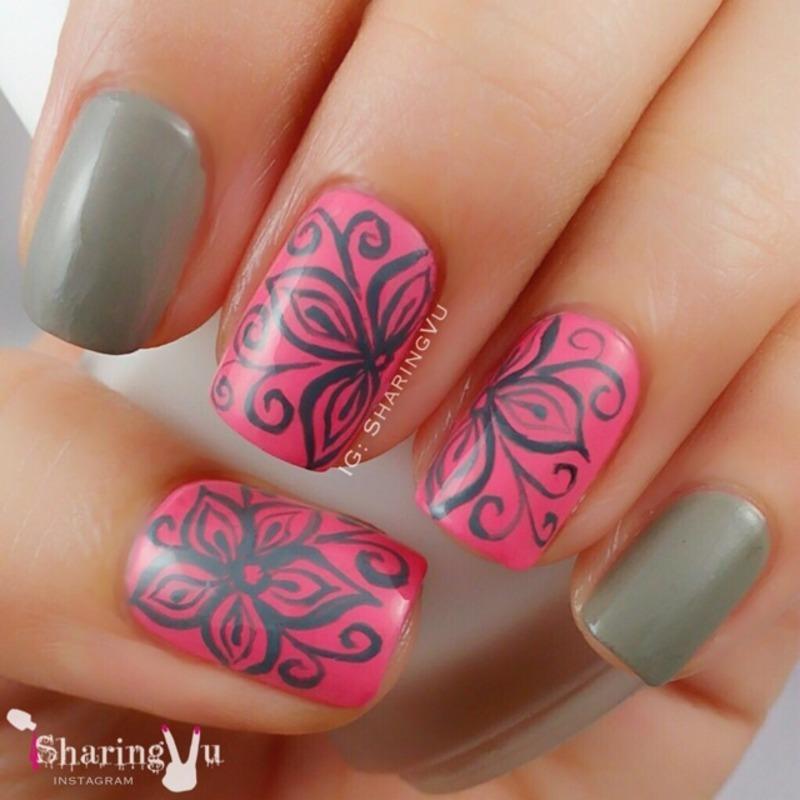 Sorry I'm Fizzy Today Grey & Suzi Takes The Wheel 💕 nail art by SharingVu