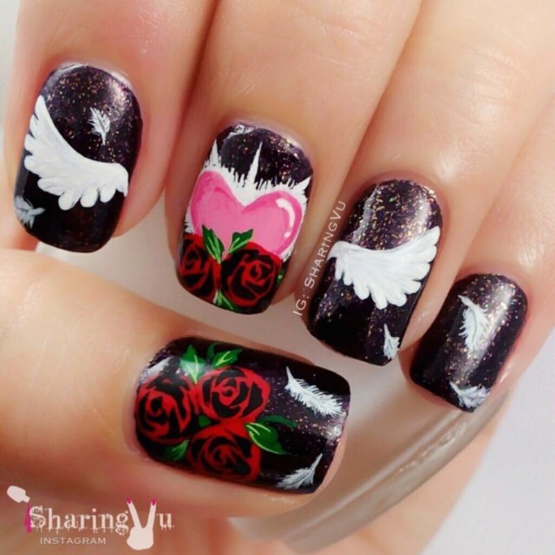 🌹 Mystery 🌹 nail art by SharingVu