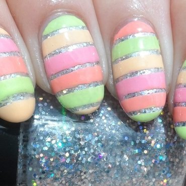 Neon Stripes nail art by Plenty of Colors
