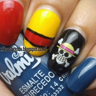 One Piece - Luffy Skittle (KkCenterHk) nail art by Isabel