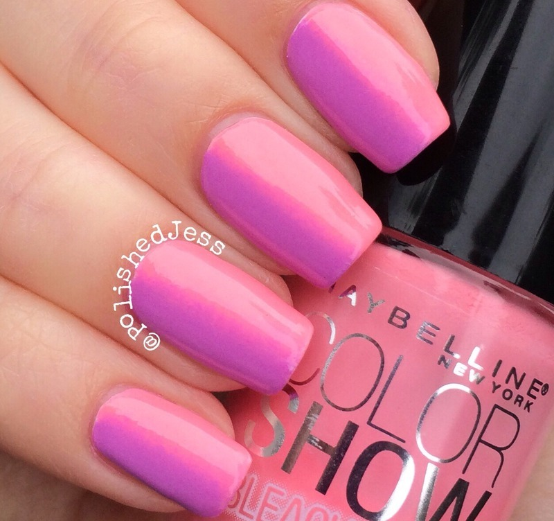 Subtle Pink/Purple Gradient.  nail art by PolishedJess