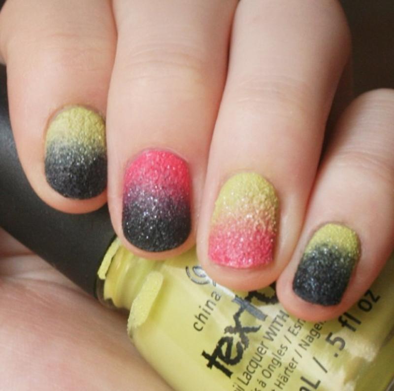 Textured Gradients nail art by Anya Qiu