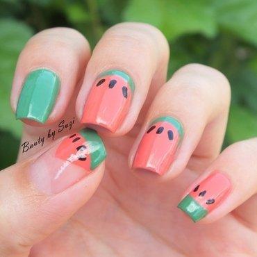 Watermelon Nails nail art by Suzi - Beauty by Suzi