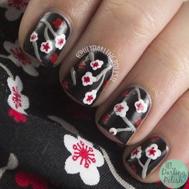 Floral Blossoms nail art by Marisa  Cavanaugh
