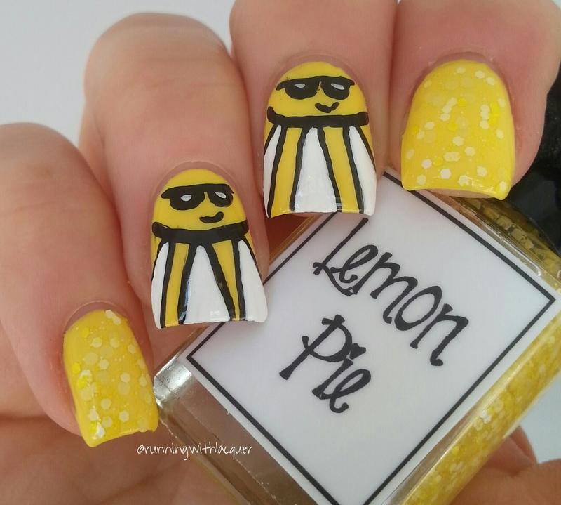 Lemon Pie Sunshine nail art by Debbie D