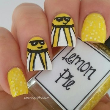 Lemon Pie Sunshine nail art by Debbie D