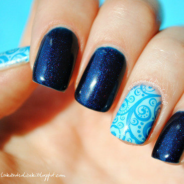 Blue Paradise nail art by Olaa