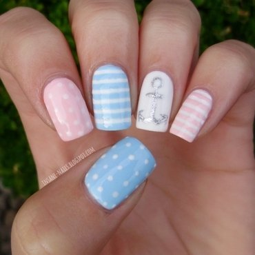 Pastel nautical nails 1 thumb370f
