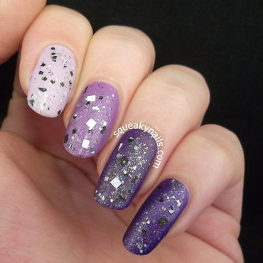 Purple Ombre nail art by Squeaky  Nails