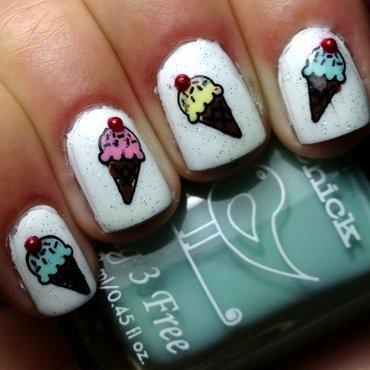 ice cream art nail art by Wish Mrt'xa