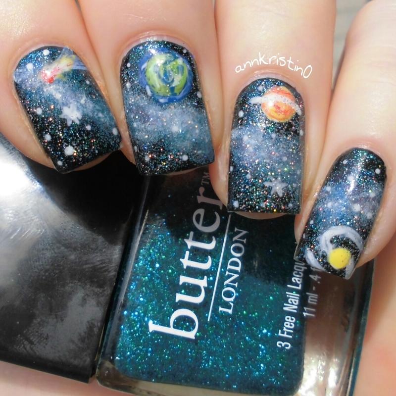 Galaxy Nails Reloaded nail art by Ann-Kristin