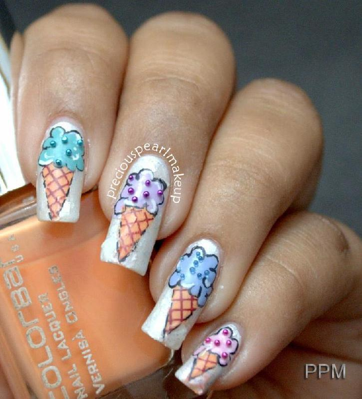 Ice Cream Nails nail art by Pearl P.