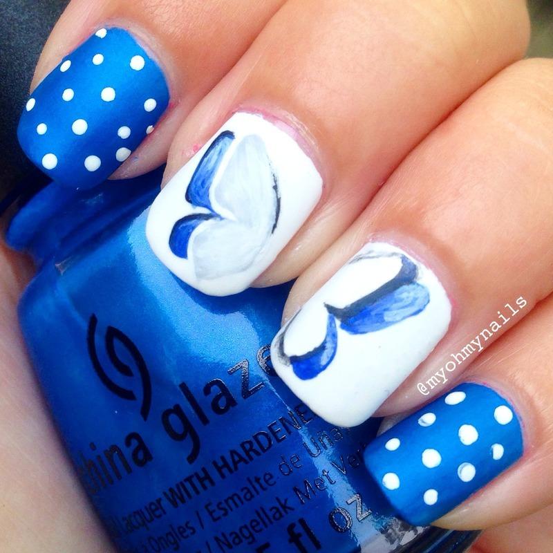 Butterfly Cut Out nail art by Niki My Oh My Nails - Nailpolis ...