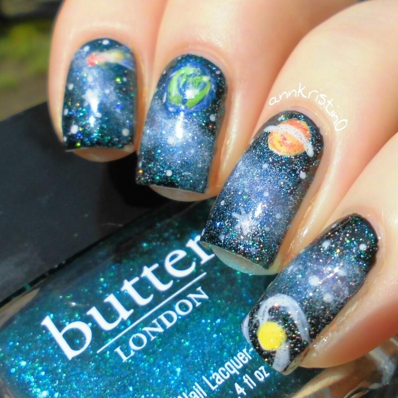 More Galaxy Nails nail art by Ann-Kristin