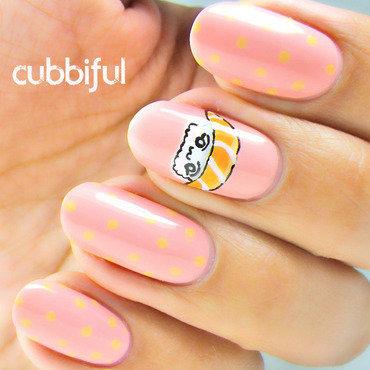 Who Likes Sushi? nail art by Cubbiful