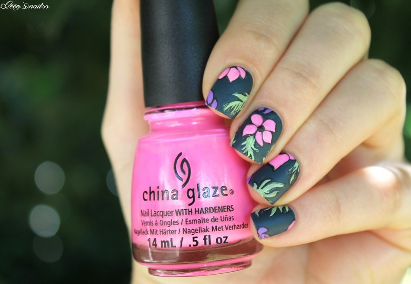 Tropical nail art  nail art by Cocosnailss