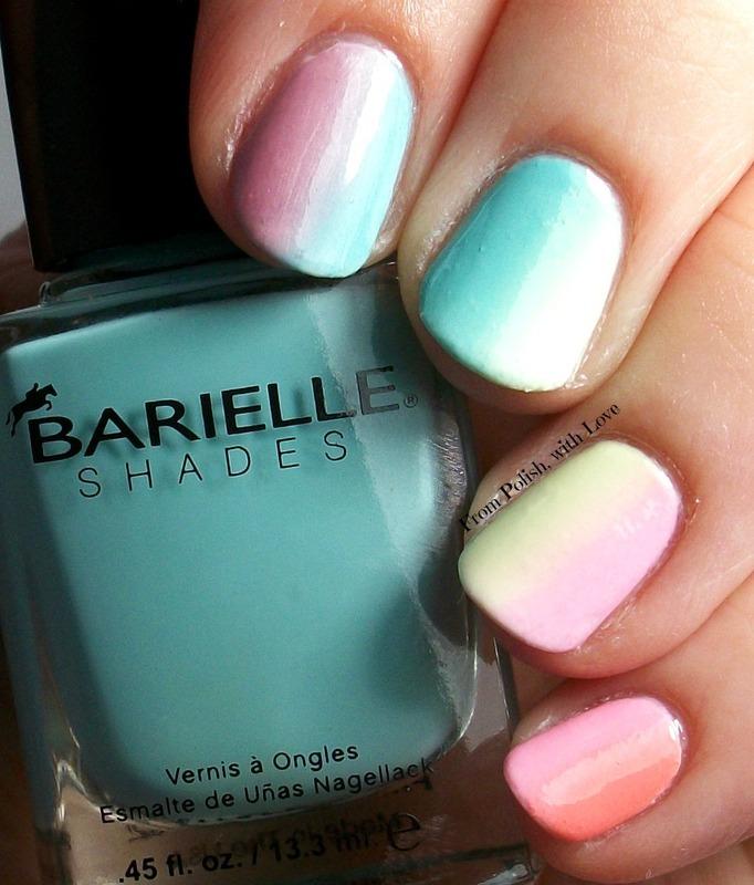 Vertical Rainbows nail art by Dani