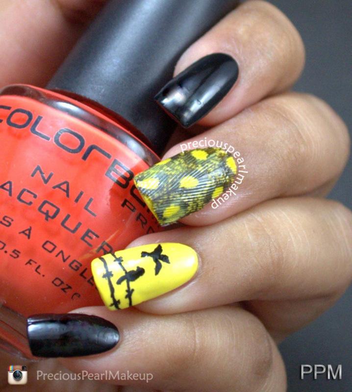 Bird nails nail art by Pearl P.
