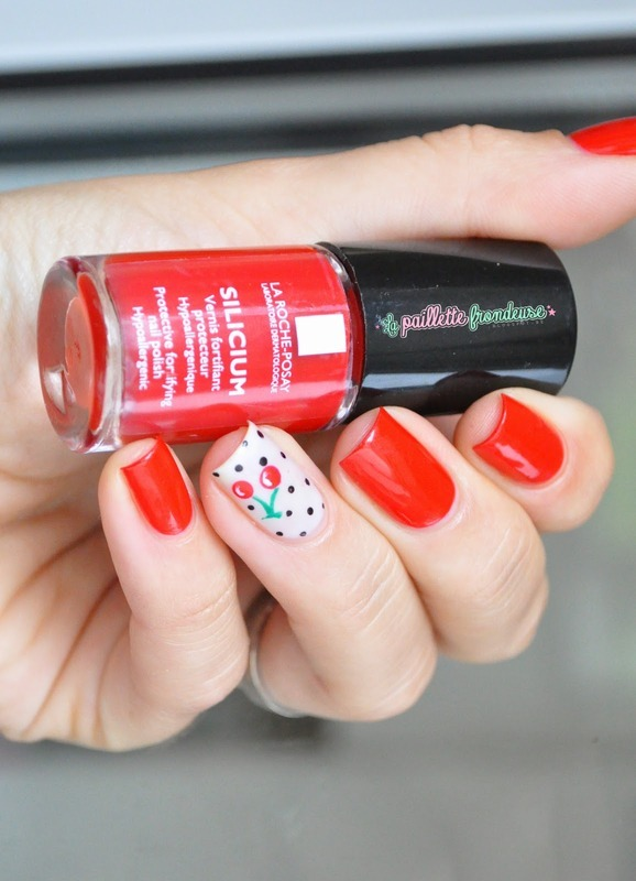 pin up cherry nails nail art by nathalie lapaillettefrondeuse