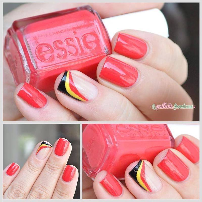 Belgium National day nail art by nathalie lapaillettefrondeuse