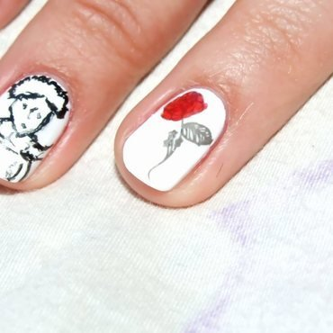 Little Prince nail art by Paulina Domoradzka