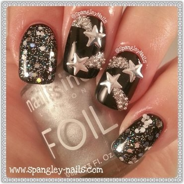Shooting Star Nail Art nail art by Nicole Louise
